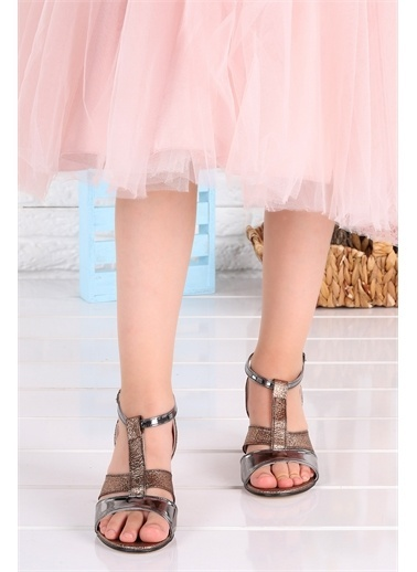 Kiko Kids  042 Elmnt Dalmaç Kız Çocuk 3 Cm Topuk Sandalet Ayakkabı Bakır